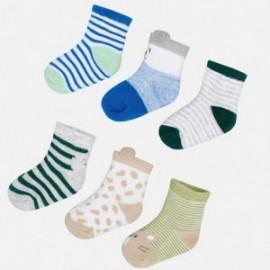 Mayoral 9053-52 Sada 6 párů dětských ponožek modrá