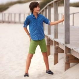 Mayoral 231-18 Chlapecké zelené šortky Bermudy
