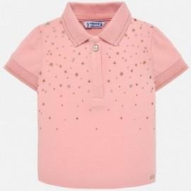 Mayoral 1108-41 Polo tričko pro dívky růžové