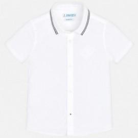 Mayoral 3128-83 Košile k/y s lemem děti bílá