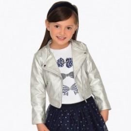 Mayoral 3406-58 Dívčí bunda ekologická kůže stříbro