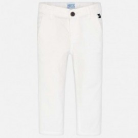 Mayoral 512-42 Klasické kalhoty se serge děti bílá
