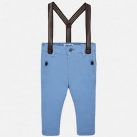 Mayoral 1524-36 Kalhoty chínos s podvazky chlapci modrý