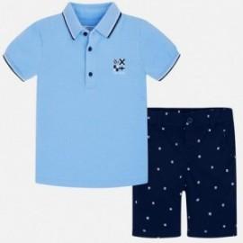 Mayoral 3245-12 Sada bermudských kraťasů a tričko pro chlapce granát