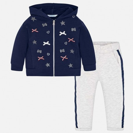Mayoral 3807-80 tepláková mikina a kalhoty dívky námořnická modrá