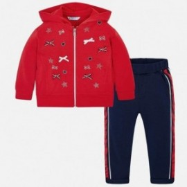 Mayoral 3807-79 tepláková mikina a kalhoty pro dívky červené