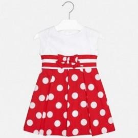 Mayoral 3938-86 Elegantní dívčí šaty s popruhy červená