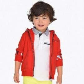 Mayoral 3429-17 Chlapecká mikina s kapucí červená