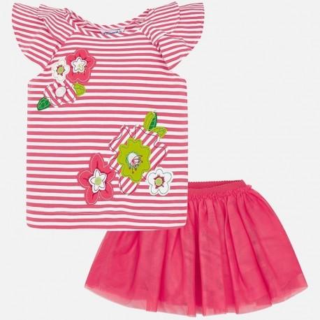 Mayoral 3960-49 Sada halenky a sukně pro dítě růžový
