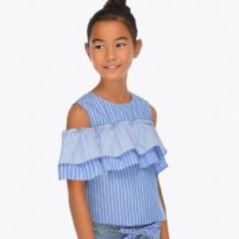 Mayoral 6108-43 Halenka s holými rameny holčičí modrá