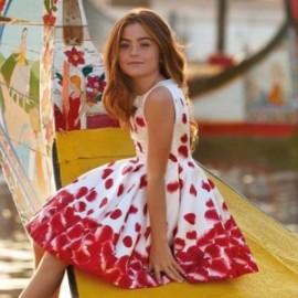Mayoral 6911-65 Dětské šaty Červené