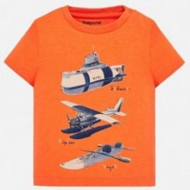 Mayoral 1029-12 Košile k/y pro chlapce oranžové