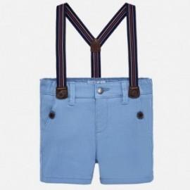 Mayoral 1244-13 Chlapecké šortky bermudy s podvazky modrý
