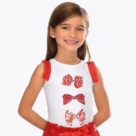 Mayoral 3021-90 Dívčí tričko na popruhy červená