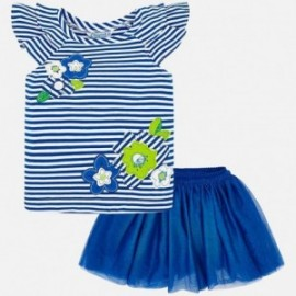 Mayoral 3960-48 Sada halenka a sukně pro dívky modrý