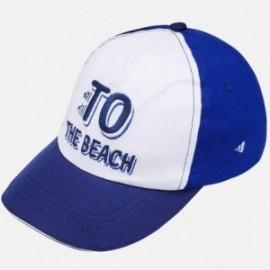 Mayoral 10584-87 Chlapecká čepice Modrá / Bílá