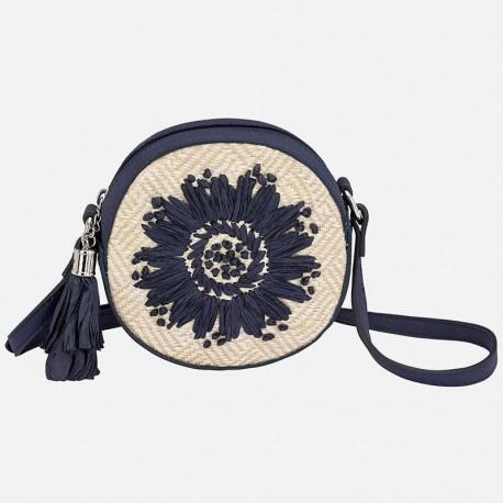 Mayoral 10601-41 Kabelka pro dívky tkané barvy granát