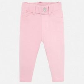 Teplé bavlněné kalhoty pro dívky Mayoral 560-39 růžový
