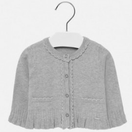Pletený svetr s volánkami pro dívku Mayoral 2315-34 stříbro