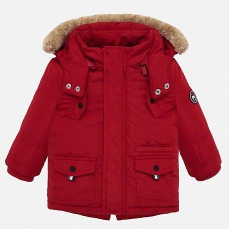 Zimní bunda Parka s kapucí pro chlapce Mayoral 2450-48 Červená