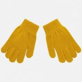 Rukavice s pěti prsty hladké pro chlapce Mayoral 10687-43 Caramel