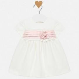 Mayoral 2816-63 Krémové bavlněné šaty s tylem
