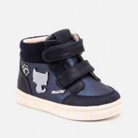 Dočasná obuv se suchým zipem pro dívky Mayoral 42040-85 Navy
