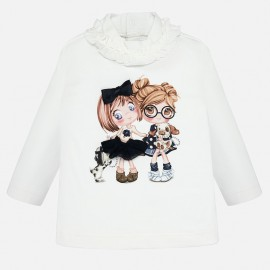 halenka košile s dlouhým rukávem pro dívky Mayoral 2006-96 krém