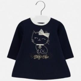 Šaty s kočkou pro dívku Mayoral 2923-49 granát