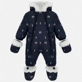 Kombinéza zima s rukavicemi pro dívku a chlapce Mayoral 2603-15 Granát