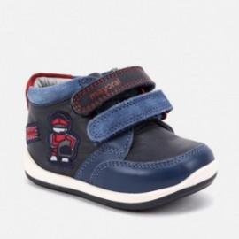 Přechodové kožené boty na suchý zip pro chlapce Mayoral 42048-57 Modrá