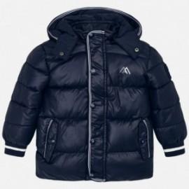 Bunda na zimu s odnímatelnou kapucí pro chlapce Mayoral 4442-71 Granát