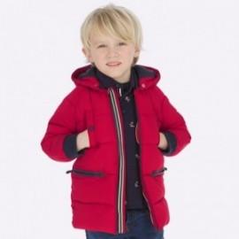 Bunda zimní dlouho s kapucí pro chlapce Mayoral 4446-81 Červená