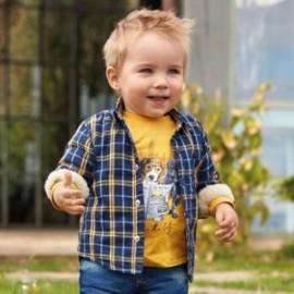 Košile s podšívkou kostkovaný chlapci Mayoral 2110-3 Modrý