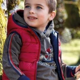 Mikina klokan sportovní s potiskem pro chlapce Mayoral 4428-42 Pardo