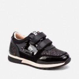 Boty běžící tenisky suchý zip pro dívky Mayoral 46057-43 Černá