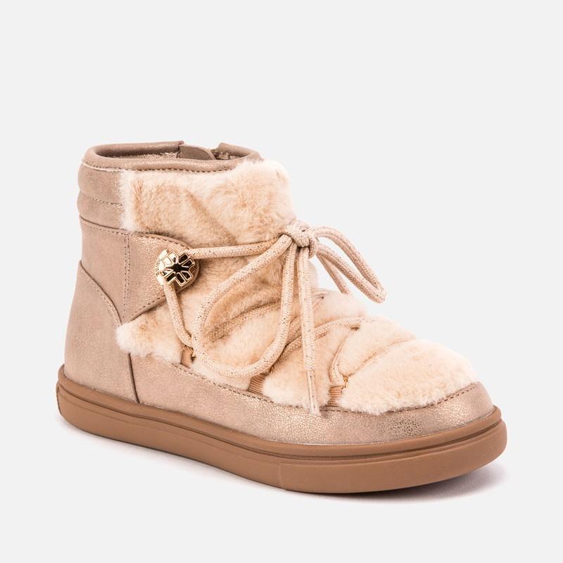 Boty zimní s kožešinou pro dívku Mayoral 44037-83 Růžový