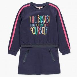 Sukienka bawełniana sportowa dla dziewczynki Boboli 408080-2440-S granat