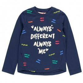 Elastické pletené tričko pro dívky Boboli 408136-2440-S námořnická modrá
