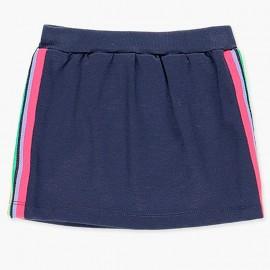 Bavlněná sportovní sukně pro dívky Boboli 408158-2440-M námořnická modrá