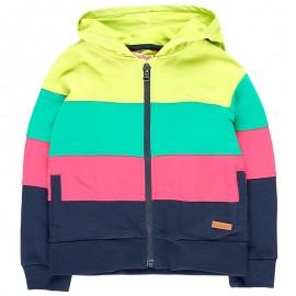Bavlněná mikina s kapucí pro dívku Boboli 408215-4467-M barevné