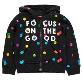 Polarowa kurtka stretch dla dziewczynki Boboli 428059-890-S czarny