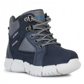 Chlapecké zimní boty GEOX B943PB-032BC-C0718-S mořské/šedé