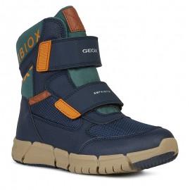 Chlapecké zimní boty GEOX J949XB-0FUCE-C0659 mořské / oranžové