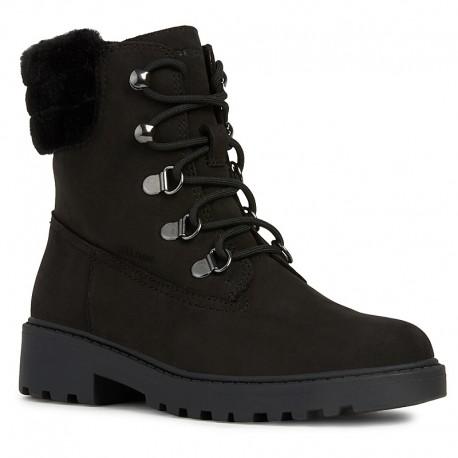 Dívčí zimní boty GEOX J94AFC-00043-C9999-S černé