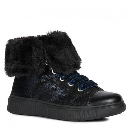 Dívčí zimní boty GEOX J947YB-0MA22-C9999_S černé