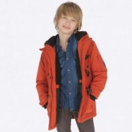 Zimní bunda Parka s kapucí pro chlapce Mayoral 7445-25 hlína