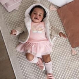 Teplé bavlněné šaty pro dívky Mayoral 2830-10 Staré růžové