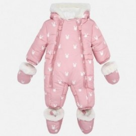 Zimní oblek s rukavicemi pro dívku Mayoral 2603-14 křemen