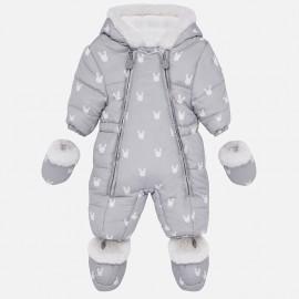 Kombinezon zimowy z rękawiczkami dla dziewczynki Mayoral 2603-17 Jasny szar